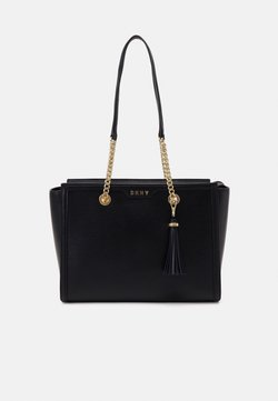 DKNY - POLLY TOTE SUTTON - Handtasche - black/gold-coloured