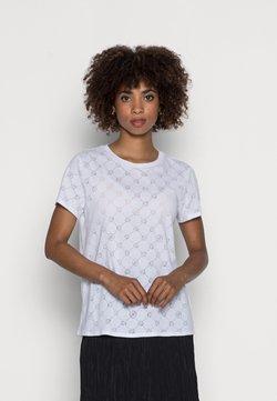 Guess - GAMINE LOGO BURNOUT - T-Shirt basic - pure white