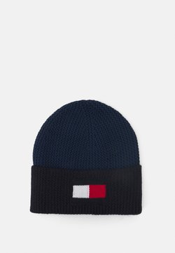 Tommy Hilfiger - BIG FLAG BEANIE - Beanie - faded indigo
