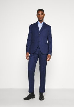 Isaac Dewhirst - CHECK SUIT - Costume - blue