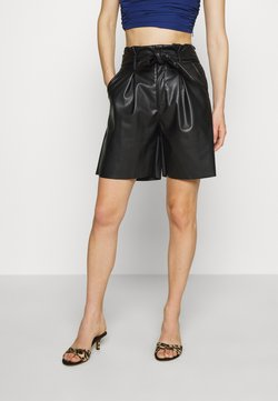 Who What Wear - THE PAPERBAG WAIST - Kangashousut - black