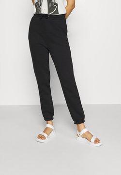 Even&Odd - HIGH WAIST LOOSE FIT SWEAT PANTS - Jogginghose - black