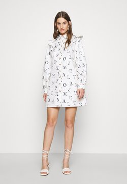 Never Fully Dressed - ALPHA FRILL DRESS - Korte jurk - ivory