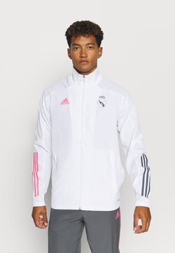 adidas Performance - REAL MADRID SPORTS FOOTBALL TRACKSUIT JACKET - Article de supporter - white