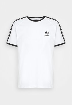 adidas Originals - STRIPES TEE - T-shirt print - white