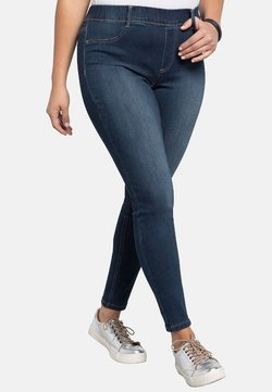 Sheego - Jeans Skinny Fit - dark blue denim