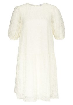 NA-KD - PUFF SLEEVE DRESS - Cocktailkleid/festliches Kleid - offwhite
