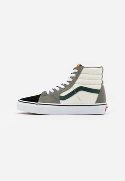 Vans - SK8 UNISEX  - Korkeavartiset tennarit - antique white/bistro green