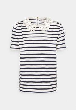 kate spade new york - STRIPED COLLAR TEE - T-shirt con stampa - cream