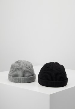 Only & Sons - ONSSHORT BEANIE 2 PACK - Mütze - black/grey melange