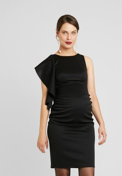 True Violet Maternity - RUFFLE PANEL BODYCON DRESS - Cocktail dress / Party dress - black