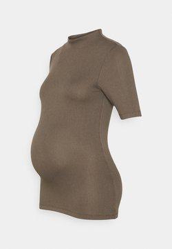 Pieces Maternity - PCMSIERRA MOCK NECK - Camiseta estampada - taupe