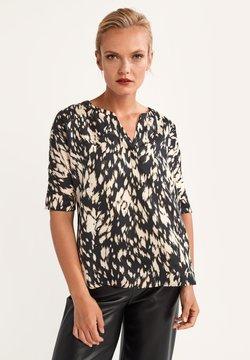 comma - KURZARM - Bluse - black animal print
