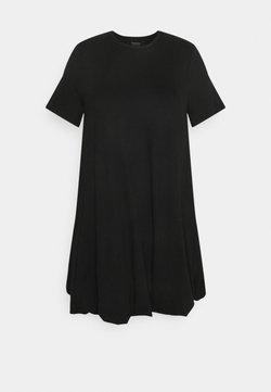 Simply Be - PUFFBALL SWING DRESS - Vestido ligero - black