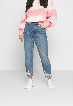 Topshop Petite - MOM - Relaxed fit jeans - blue denim