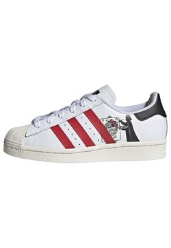 adidas Originals - SUPERSTAR SHOES - Sneakers laag - ftwr white/scarlet/chalk white