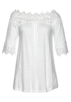 LASCANA - Langarmshirt - weiß