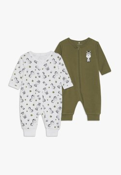 Name it - NBMNIGHTSUIT  ZIP 2 PACK - Pijama - loden green