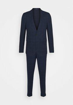 Isaac Dewhirst - BLUE CHECK - Anzug - blue