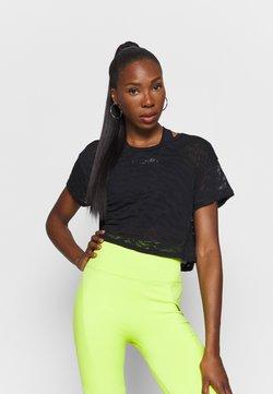 Good American - ZEBRA BURNOUT TEE - T-Shirt print - black