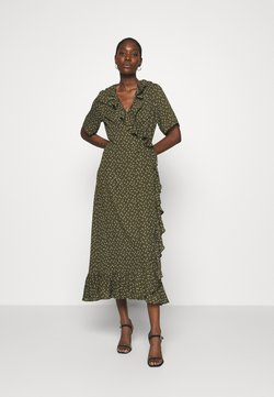 JUST FEMALE - DAISY MAXI WRAP DRESS - Maxikleid - forest night
