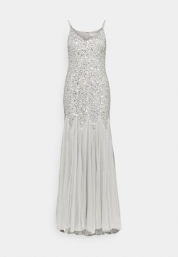 Maya Deluxe - DELICATE SEQUIN FISHTAIL MAXI DRESS - Abito da sera - soft grey