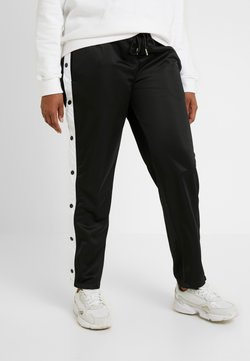 Urban Classics Curvy - LADIES BUTTON UP TRACK PANTS - Jogginghose - black