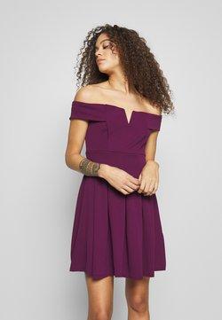 WAL G PETITE - BARDOT DRESS - Sukienka letnia - mulberry