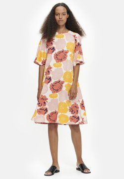 Marimekko - VARISTA PIENI PIONI  - Robe d'été - peach/yellow/coral