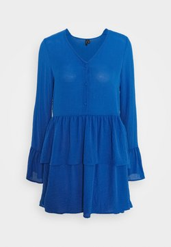 Vero Moda Tall - VMZIGGA FLOUNCE TUNIC - Cocktailkleid/festliches Kleid - nautical blue