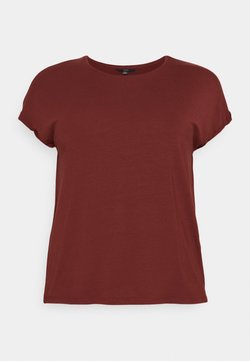 Vero Moda Curve - VMAVA PLAIN - T-Shirt basic - madder brown