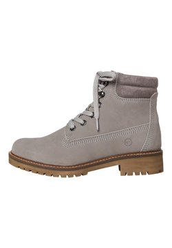 Tamaris - STIEFELETTE - Enkellaarsjes met plateauzool - light grey