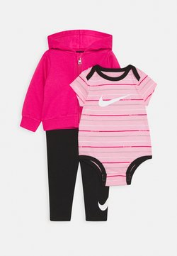 Nike Sportswear - STRIPE BODYSUIT SET - Body - black/light pínk