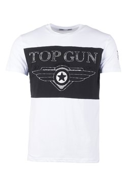 TOP GUN - T-shirt print - white/black
