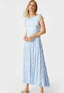 C&A - Maxikleid - white / light blue