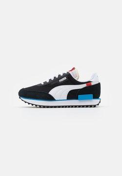 Puma - FUTURE RIDER PLAY ON UNISEX - Sneakers laag - black/white/ibiza blue