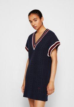 Victoria Victoria Beckham - CRICKET JUMPER DRESS - Vestido de punto - midnight blue