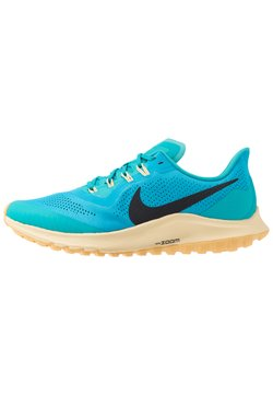 Nike Performance - AIR ZOOM PEGASUS 36 TRAIL - Obuwie do biegania Szlak - light current blue/oil grey/teal