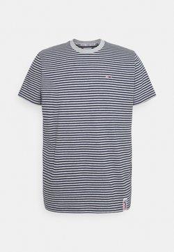 Tommy Jeans - STRIPE TAB TEE - T-Shirt print - twilight navy