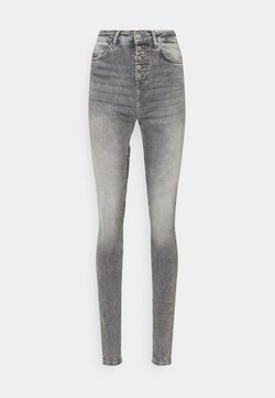 ONLY Tall - ONLBLUSH LIFE BUTTON - Jeans Skinny Fit - grey denim