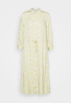 mine to five TOM TAILOR - DRESS DRAWSTRING - Blusenkleid - mellow yellow