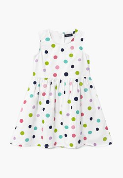 Blue Seven - SMALL GIRLS RAINBOW SPOT - Sukienka koktajlowa - white
