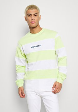 Mennace - PANELLED STRIPE - Long sleeved top - lime