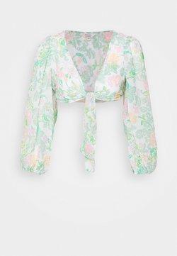 Miss Selfridge Petite - TIE FRONT BLOUSE - Bluse - green