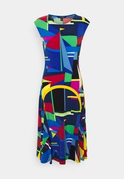 Lauren Ralph Lauren - STRETCH - Vestido ligero - blue/multi