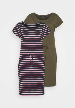 Vero Moda Tall - VMAPRIL SHORT DRESS 2 PACK - Jerseykleid - ivy green/navy blazer