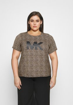 MICHAEL Michael Kors - LEOPARD LOGO TEE - T-shirt imprimé - dark camel