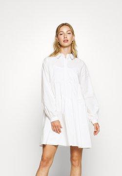 Noisy May - NMJULIE SHIRT POPLIN DRESS - Blusenkleid - bright white