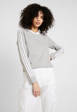 adidas Originals - Longsleeve - medium grey heather/white
