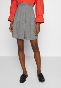 Re.draft - SKIRT WITH PLEATS - A-linjainen hame - anthracite